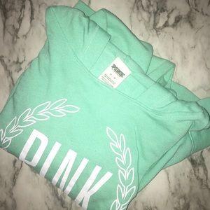 VS PINK mint green popover hoodie MED